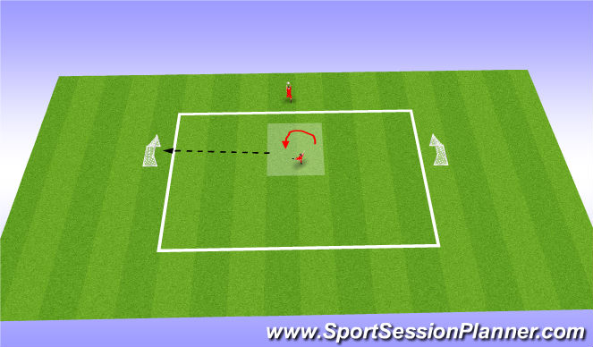 Football/Soccer Session Plan Drill (Colour): Control and Pass