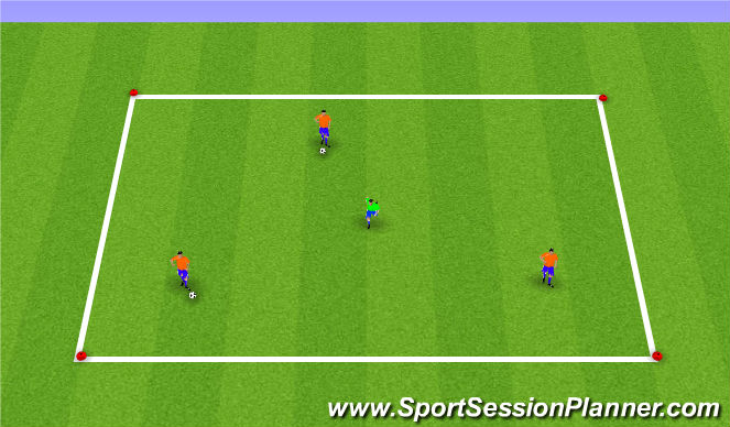 Football/Soccer Session Plan Drill (Colour): SSG - 2 Ball Possession