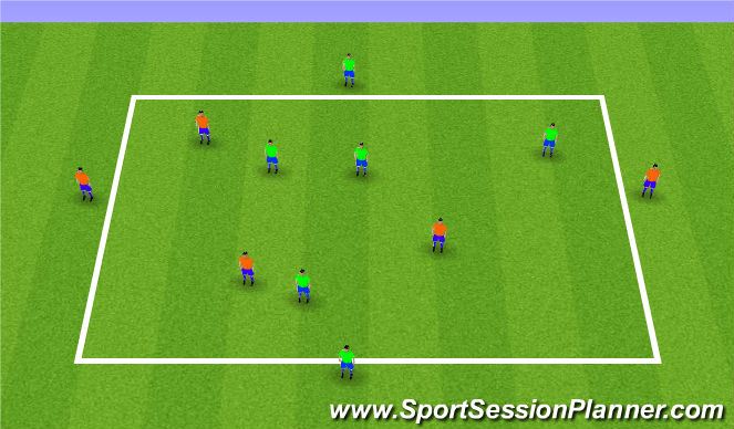 Football/Soccer Session Plan Drill (Colour): eSSG - Passing 2 Directions