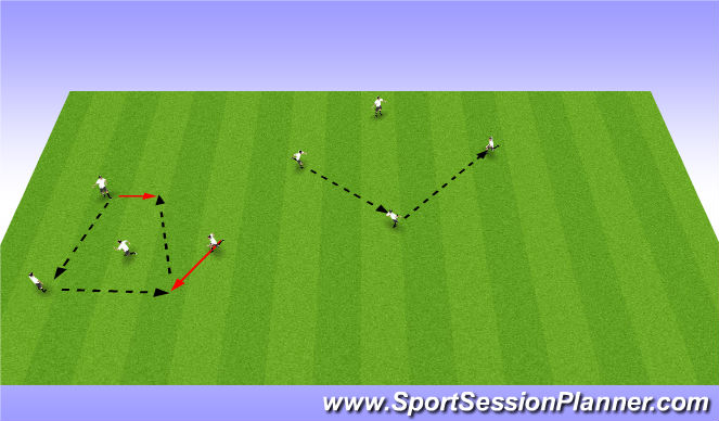 Football/Soccer Session Plan Drill (Colour): Warm up Activity 2