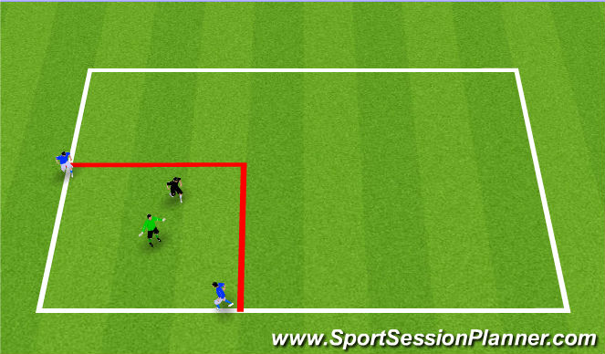 Football/Soccer Session Plan Drill (Colour): 1v1 in box