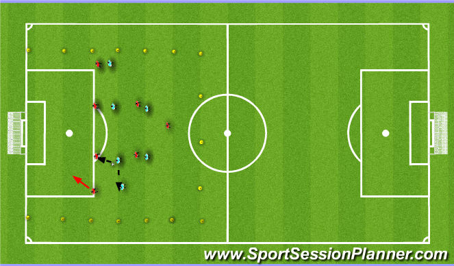 Football/Soccer Session Plan Drill (Colour): Technical/Warm up