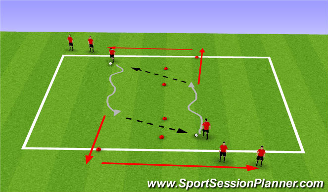 Football/Soccer Session Plan Drill (Colour): Spring/Summer Running with the Ball