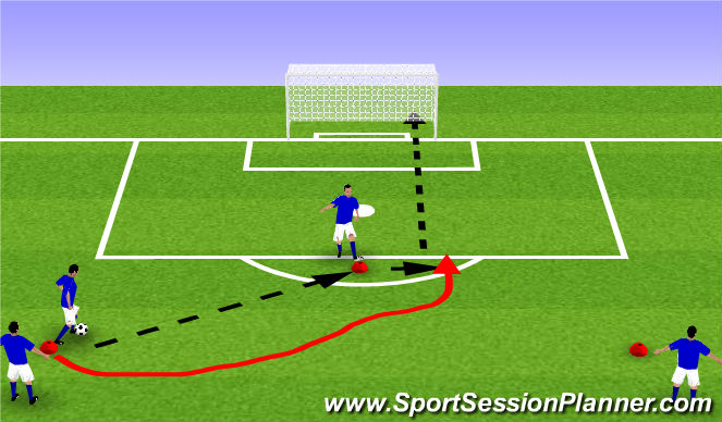 Football/Soccer Session Plan Drill (Colour): Spring/Summer Passing and moving to socre