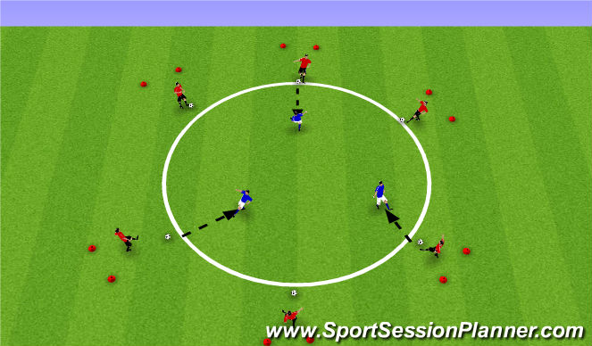 Football/Soccer Session Plan Drill (Colour): Spring/Summer Turning into Space