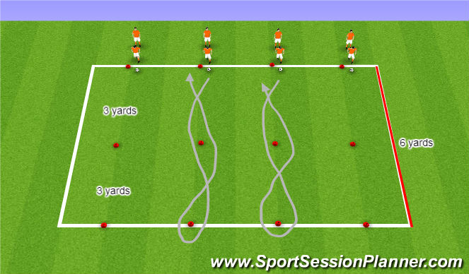 Football/Soccer Session Plan Drill (Colour): Dribbling Skills Challenge