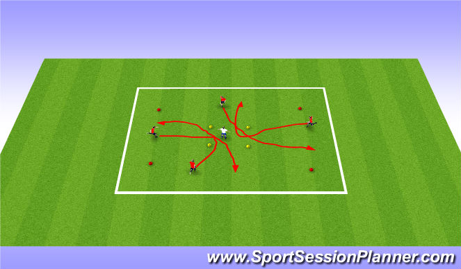 Football/Soccer Session Plan Drill (Colour): Catch me if you can