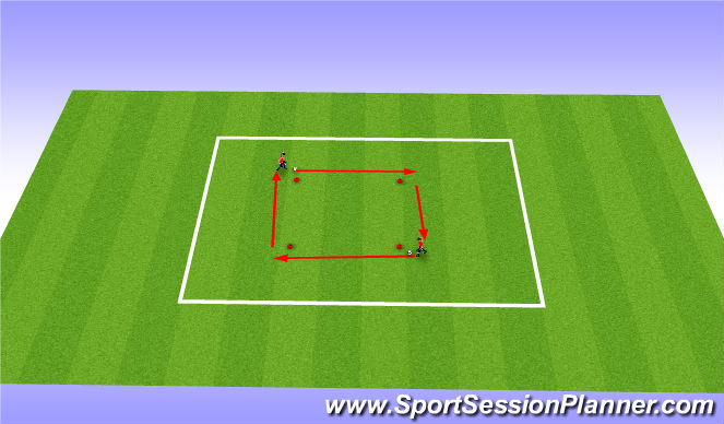 Football/Soccer Session Plan Drill (Colour): Catch me if you can pt 2