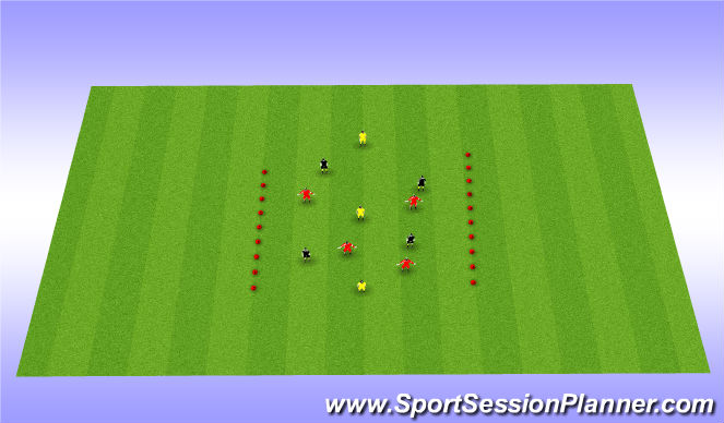 Football/Soccer Session Plan Drill (Colour): 8 passes