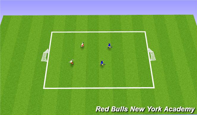 Football/Soccer Session Plan Drill (Colour): 2 v 2 Tournament