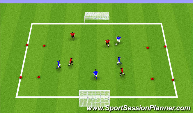 Football/Soccer Session Plan Drill (Colour): Spring/Summer SSG