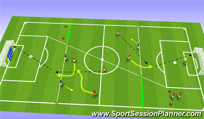 Football/Soccer Session Plan Drill (Colour): Alamo - Func
