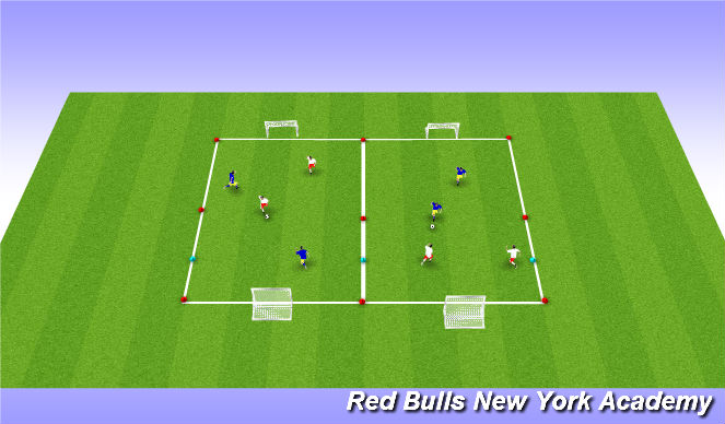 Football/Soccer Session Plan Drill (Colour): condtioned game/ free play