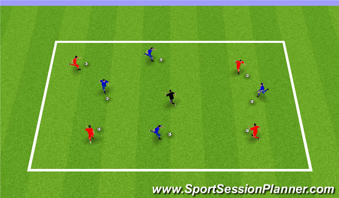 Football/Soccer Session Plan Drill (Colour): Week 5