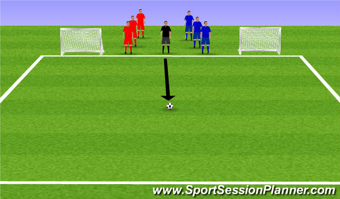 Football/Soccer Session Plan Drill (Colour): Week 6