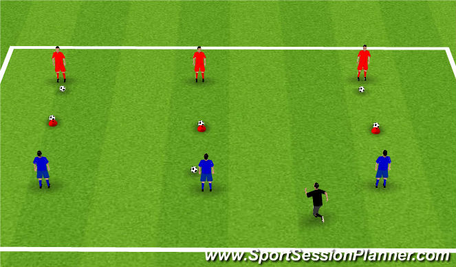 Football/Soccer Session Plan Drill (Colour): Week 8