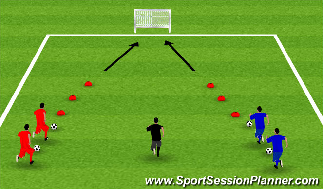 Football/Soccer Session Plan Drill (Colour): Week 9