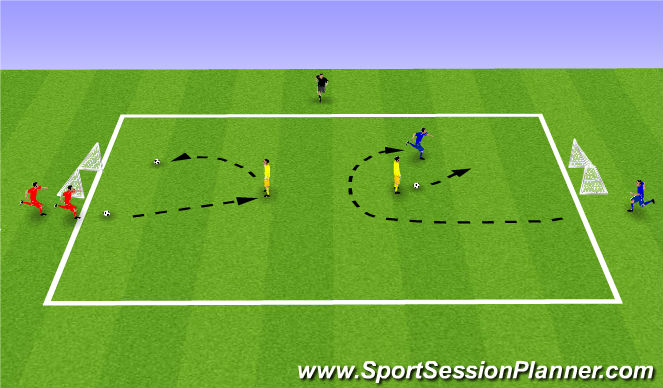 Football/Soccer Session Plan Drill (Colour): Week 10