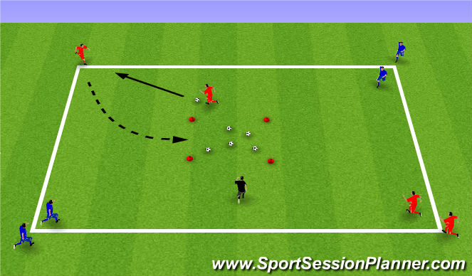 Football/Soccer Session Plan Drill (Colour): Week 12