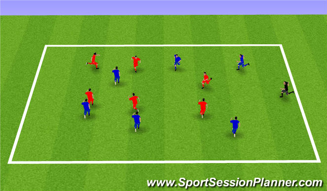 Football/Soccer Session Plan Drill (Colour): Week 1: Catch the Tail