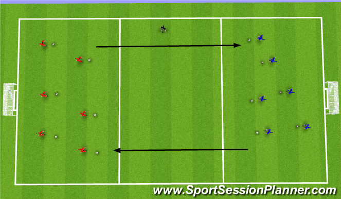 Football/Soccer Session Plan Drill (Colour): Week 2: Clean Up the Garden