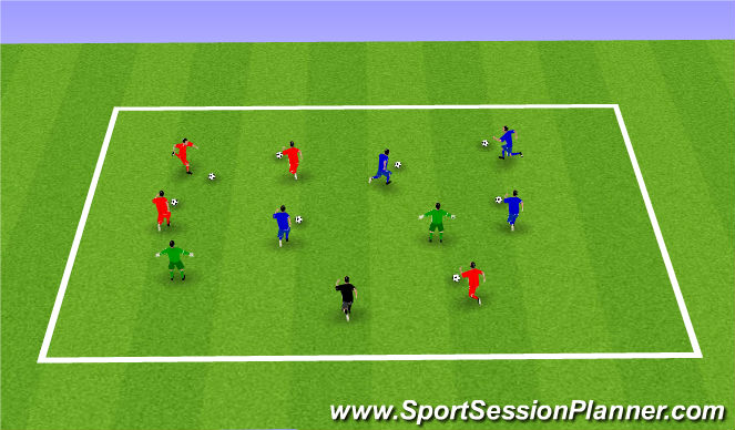 Football/Soccer Session Plan Drill (Colour): Week 3: Freeze Tag