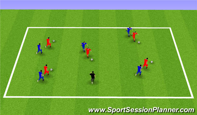 Football/Soccer Session Plan Drill (Colour): Week 4: Follow the Leader