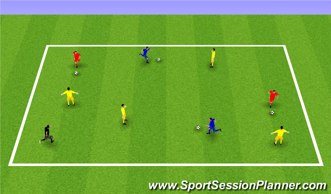 Football/Soccer Session Plan Drill (Colour): Week 7: Passing with a Friend