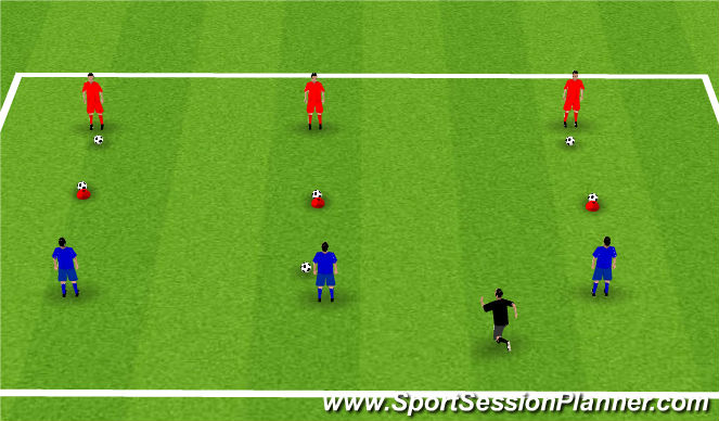 Football/Soccer Session Plan Drill (Colour): Week 8: Topple me Coconuts