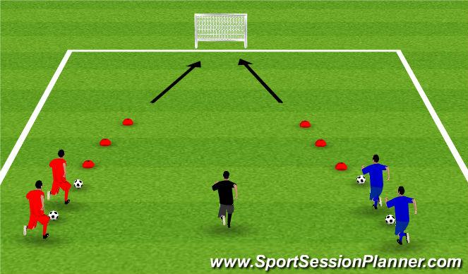 Football/Soccer Session Plan Drill (Colour): Week 9: Maze Runner
