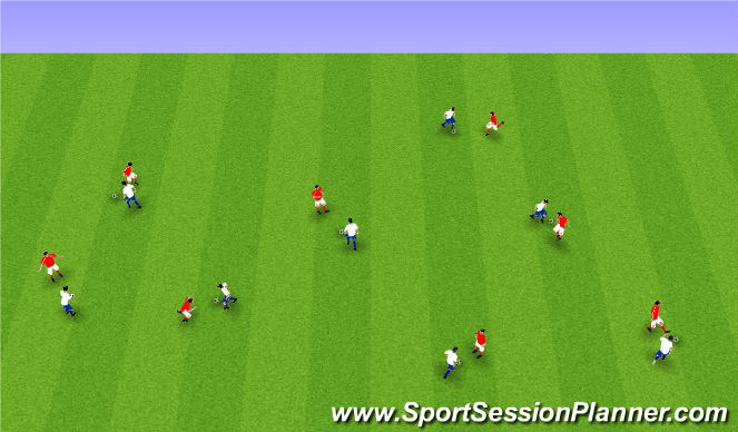 Football/Soccer Session Plan Drill (Colour): Upphitun1