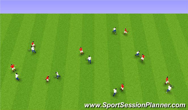 Football/Soccer Session Plan Drill (Colour): Upphitun1