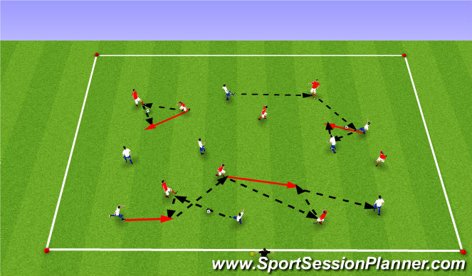 Football/Soccer Session Plan Drill (Colour): Upphitun2