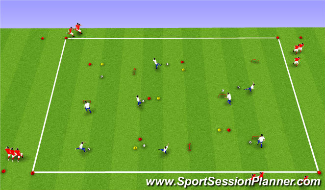 Football/Soccer Session Plan Drill (Colour): Líkams- og tækniþjálfun