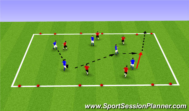 Football/Soccer Session Plan Drill (Colour): Spring/Summer Give and Go