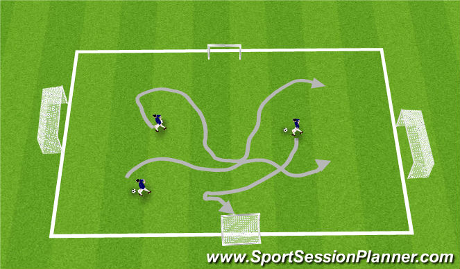 Football/Soccer Session Plan Drill (Colour): Passing pugs