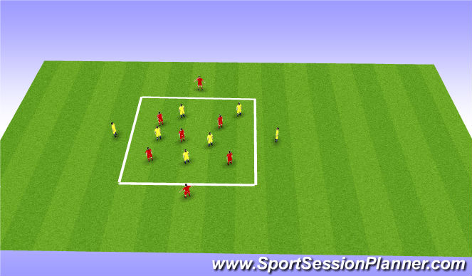 Football/Soccer Session Plan Drill (Colour): Possession - Skill Intro P1