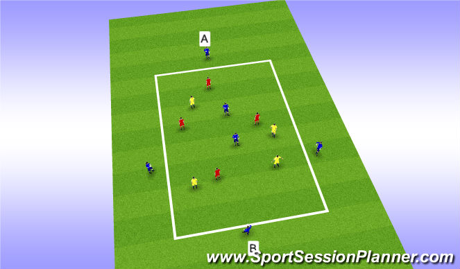Football/Soccer Session Plan Drill (Colour): Possession - Skill Intro - P2