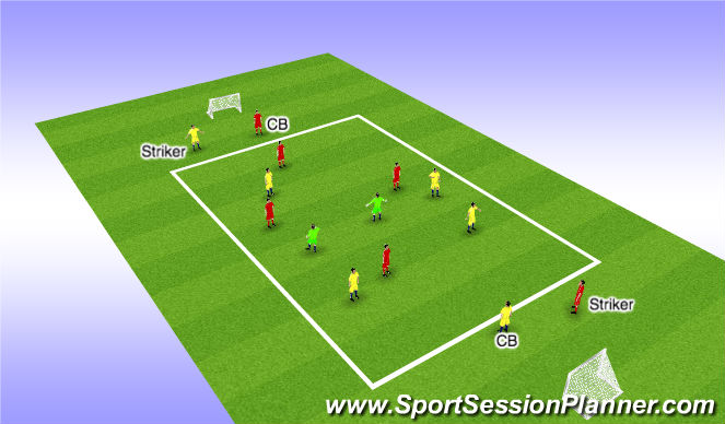 Football/Soccer Session Plan Drill (Colour): Possession - Training Game