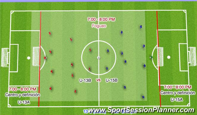 Football/Soccer Session Plan Drill (Colour): primera parte