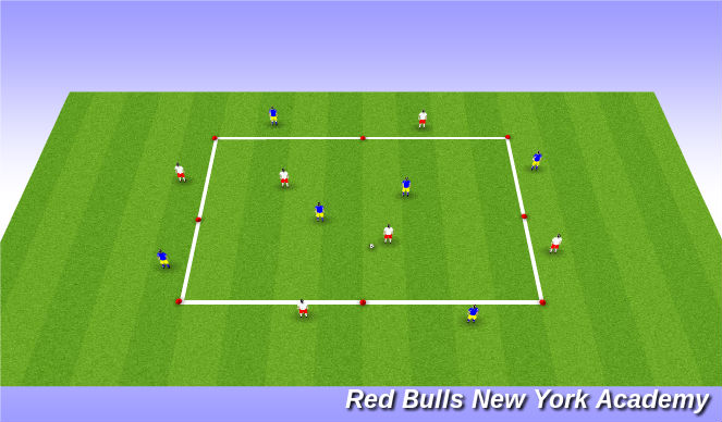 Football/Soccer Session Plan Drill (Colour): Small sided possession