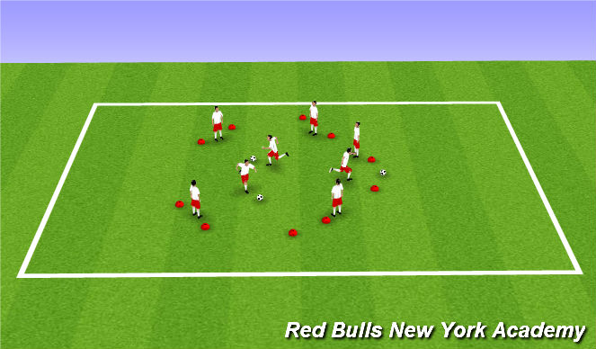 Football/Soccer Session Plan Drill (Colour): sliding doors
