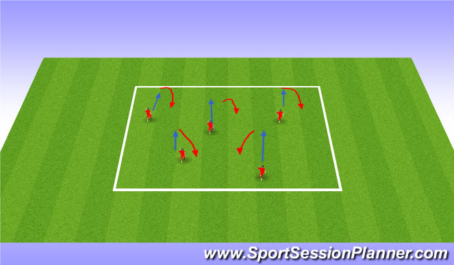 Football/Soccer Session Plan Drill (Colour): Warm Up - Numbers