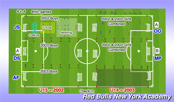 Football/Soccer Session Plan Drill (Colour): Linn 3:30-5:30p