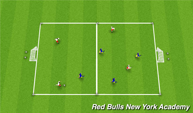 Football/Soccer Session Plan Drill (Colour): Small-Sided Games - 4v4