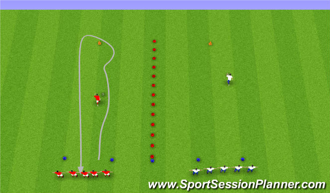 Football/Soccer Session Plan Drill (Colour): Knattraksleikir.