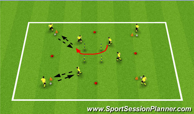 Football/Soccer Session Plan Drill (Colour): Workers and Servers