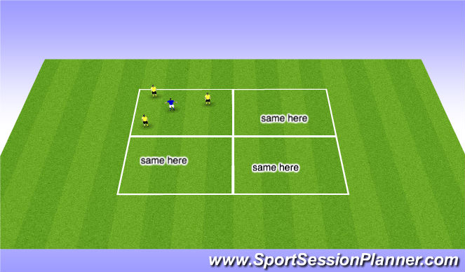 Football/Soccer Session Plan Drill (Colour): Tactical: Rondo's