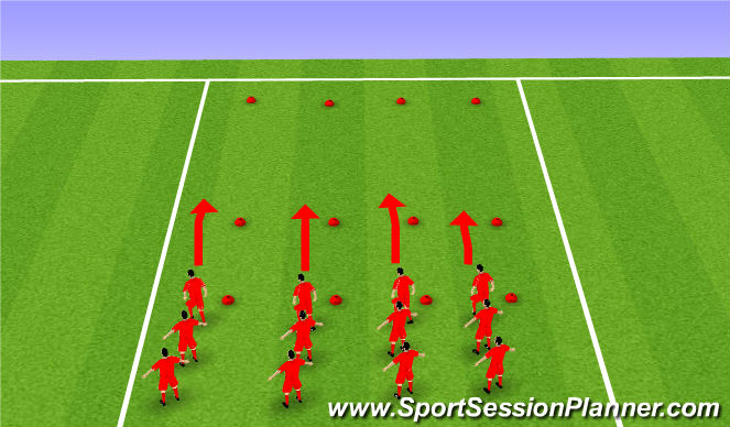 Football/Soccer Session Plan Drill (Colour): Warm up: Part 2