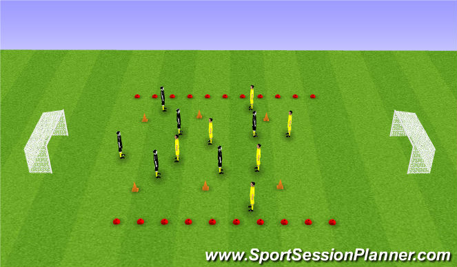 Football/Soccer Session Plan Drill (Colour): Wide game